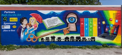 Article 12 of the UDHR – done by youth in Midland ON, Part of AI Toronto Project: Urban Canvas